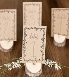 Wreath Wedding Reception Table Numbers, Set of 10 by Alison Kate Design on Scoutmob Shoppe