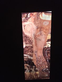 "Gustav Klimt ""Water Snakes I"" Austrian Art Nouveau 35mm Glass Art Slide  