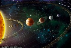Did our solar system once contain DOZENS of Earth-like planets? Simulations suggest these rocky worlds may have been kicked out by the gas giants billions of years ago | Daily Mail Online