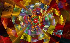 Glass Fractal | Stained glass wheel by Wolfepaw | CAOS FRACTAL I | Pinterest