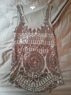 tribal boho sequin shirt perfect for a bachlorette party