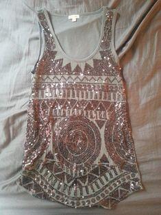 tribal boho sequin shirt w blazer