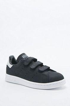Adidas Originals - Baskets Stan Smith noires à scratch