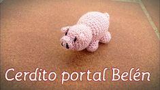 Cerdito portal de Belén amigurumi- tutorial- - YouTube Amigurumi Tutorial, Crafts To Make, Nativity, Free Pattern, Dinosaur Stuffed Animal, Portal Belen, Teddy Bear, Crafty, Toys