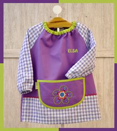 Guardería Flor Girls Frock Design, Frocks For Girls, Ideias Diy, Old Love, Baby Shirts, Vintage Fabrics, Apron, Blouse, Girly