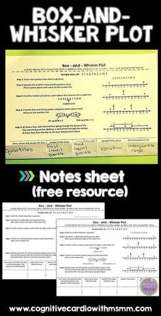 Try this free box-and-whisker plot for your math students' interactive notebooks.