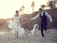 perfect wedding photo- with the kids instead of dogs of course. lol