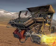 Air train. Inspired by the wonderful concept artist Ian McQue. Done in Modo801, Photoshop Reggy Langkun © 2013