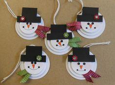 Snowman Circle Gift Tags