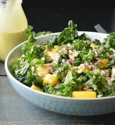 kale salad with mango vinaigrette
