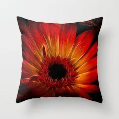 Starfire Gerbera Throw Pillow by F Photography and Digital Art - $20.00
