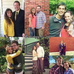 "The Duggar Family on Instagram: ""7 couples and counting  #jimbobandmichelleduggar #joshandannaduggar #dericklovejilldillard #benlovejessaseewald #austinandjoyannaforsyth…"""