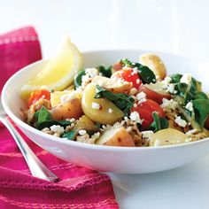 Our New Potato & Turkey Skillet Supper, just 271 calories per serving! Clean Eating.