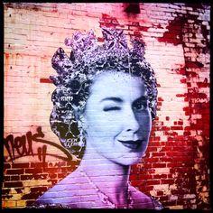 Jubilee Graffiti by Gaia (?) seen in Newcastle (via @davidcoxon)