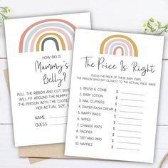 Rainbow Theme Baby Shower, Rainbow Baby, Baby Animal Games, Baby Word Scramble, Baby Prediction, Baby Bingo, Baby Words, Virtual Baby Shower, Baby Lotion