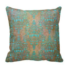 Aqua Teal over Brown Vintage Damask Design Throw Pillow today price drop and special promotion. Get The best buyReview Aqua Teal over Brown Vintage Damask Design Throw Pillow today easy to Shops & Purchase Online - transferred directly secure and trusted checkout...