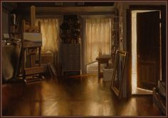 the interior of his studio.   This LIGHTING...  Jacob collins.
