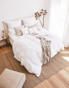 Renew your sheets and get a most elegant bedroom ⠀⠀⠀⠀⠀⠀⠀⠀⠀ Register . Room Ideas Bedroom, Dream Bedroom, Home Decor Bedroom, Bedroom Signs, Master Bedroom, Bedroom Styles, Minimalist Bedroom, New Room, Interior Design