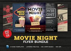 Movie Night Flyer Template By Flyerheroes On Creative Market