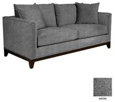 """La Brea Studded Apt. Size Sofa, Smoke, 72""""w X 39""""d X 31""""h - $1018"""