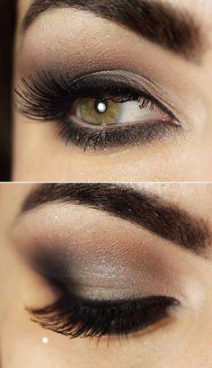 #dark eyes #smokey eyes #full eyelashes