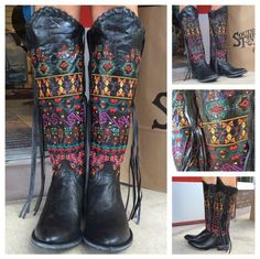 Love the #aztec embroidery on our new Johnny Ringo Boots! #johnnyringoboots #sothread #atx — at Southern Thread @ The Domain