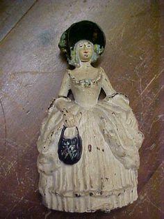 COLONIAL WOMAN LVL DOORSTOP CAST IRON ANTIQUE DOOR STOP LADY HUBLEY VINTAGE