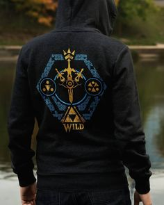 "Hoodie-weather... I choose ""Crest of the Wild"" as my Zip Up Hoodie for today.  ' How's the weather with you? ' KEMPO24.etsy.COM"
