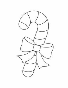 Free Printable Ornament Template | Candy cane - Free Printable Coloring Pages