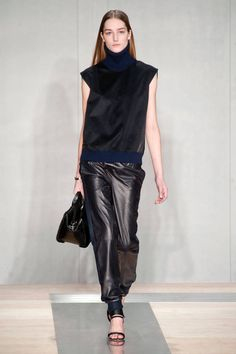 Look 8 Reed Krakoff Fall 2013 #NYFW #leather joggers #pant