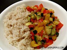 Squash and Pepper Tortillas