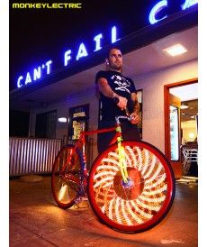 Ultra Bike Light - These fantastic bike lights come pre-assembled with 32 full color LED lights and 9 exciting light patterns. Bicycle Spokes, Bicycle Tires, Bicycle Shop, Electric Bike Wheel, Modern Leather Sofa, New Motorcycles, We Are The World, Led, Super Bikes