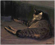 Théophile Steinlen, Chat dormant.