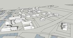 Réalisation d'une vue 3D d'une commune d'Ille et Vilaine avec SketchUp Stage, Floor Plans, 3d, Architecture, Atelier, Arquitetura, Architecture Illustrations, Scene, Architecture Design