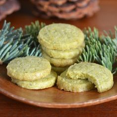 Summer Cabin Recipe:  Foraged Evergreen Shortbread Cookies | Recipes from The Kitchn