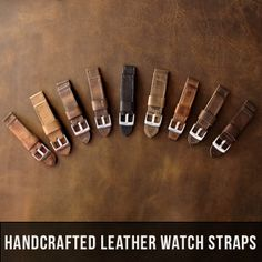 Handcrafted Handmade Leather Watch Straps