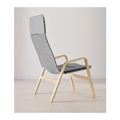 NOLBYN High-back armchair - birch veneer/grey - IKEA