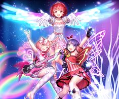 Saints:Pretty Rhythm - Aira, Mia, and Naru Anime Chibi, Kawaii Anime, Rainbow Live, Rainbow Heart, Japonese Girl, Detective Conan Wallpapers, Anime Stories, Sailor Moon Usagi, Pretty Star