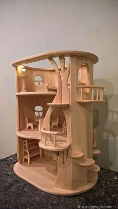 Diy Furniture Farmhouse How To Build - New ideas Diy Wooden Toys Plans, Wooden Diy, Woodworking Toys, Woodworking Projects, Wooden Plane, Doll House Crafts, Doll Houses, Doll House Plans, Wooden Dollhouse