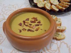 Sopa de Ervilha Seca - Na Biroskinha Cheeseburger Chowder, Carne, Cooking, Recipes, Drink, Creamed Peas, Antipasto, Sauces, Salads