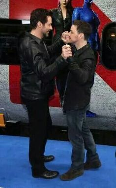 James McAvoy & Hugh Jackman - coming soon to Dancing With the Stars! On ABC this fall. LOL.