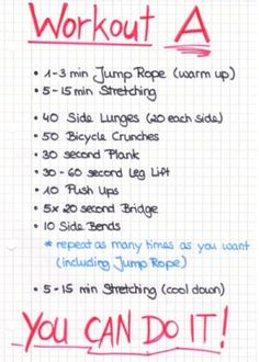 workout plan a