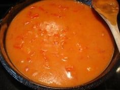 """Tomato Gravy"" My Mother made this all the time when I was a girl. It's a southern thing. Great with pork chops and rice.""Tomato Gravy"" My Mother made this all the time when I was a girl. It's a southern thing. Great with pork chops and rice. Pork Chops And Rice, Fried Pork Chops, Tomato Gravy, Tomatoe Gravy Recipe, Creamed Tomatoes Recipe, Tomato Pie, Tomato Basil, Sauces, Cooking Recipes"