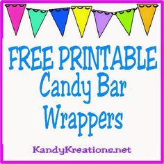 10 printable candy bar wrappers kandy kreations
