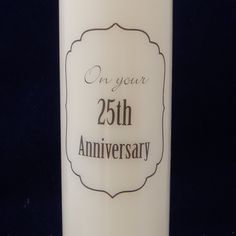Wedding or other Anniversary Candle, any year, 25th silver wedding anniversary, 50th gold wedding anniversary by TheCandleandCardCo on Etsy
