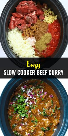 FAKEAWAY BEEF CURRY of DREAMS. This Slow Cooker Beef Curry is a simple, prepare ahead midweek meal and it's LIGHT, HEALTHY and LOW FAT. Don't BELIEVE it? TRY IT! Crockpot Meals, Slow Cooker Recipes, Crockpot Recipes, Cooking Recipes, Slow Cooker Beef Curry, Slow Cooked Beef, Meat Dish, Healthy Food, Healthy Recipes