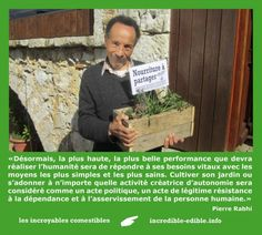Incroyables comestibles / incredible edibles : citizen initiative to plant edibles in public areas, for free recolection