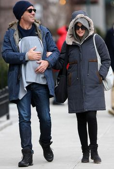Bobby Cannavale and Rose Byrne step out with son Rocco in the West Village on Tuesday.