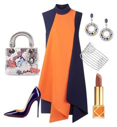 """Victoria Beckham Dress"" by arta13 on Polyvore featuring Victoria, Victoria Beckham, Christian Dior, Christian Louboutin, Allurez and Tory Burch"