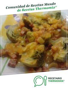 ALCACHOFAS AL VAPOR CON SALSA DE JAMON por mamen-gr. La receta de Thermomix<sup>®</sup> se encuentra en la categoría Verduras y hortalizas en www.recetario.es, de Thermomix<sup>®</sup>